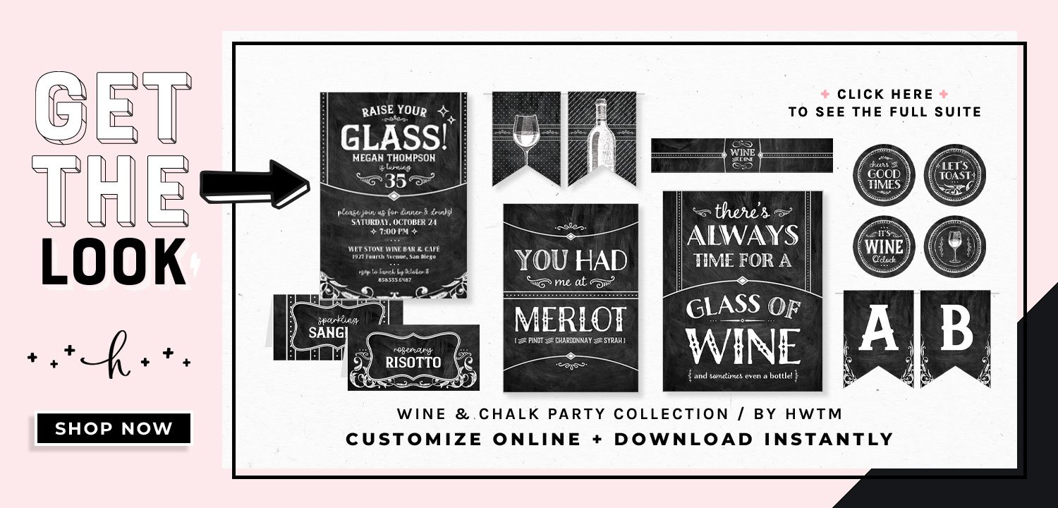 Wine and Chalk Party Printables
