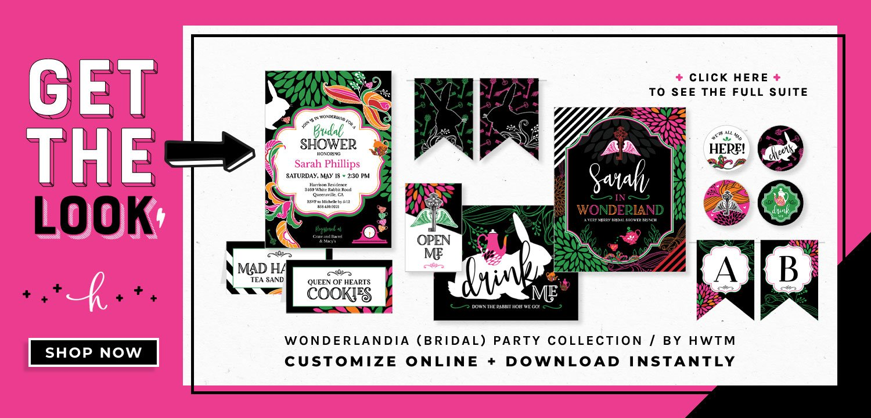 Wonderlandia Bridal Printables