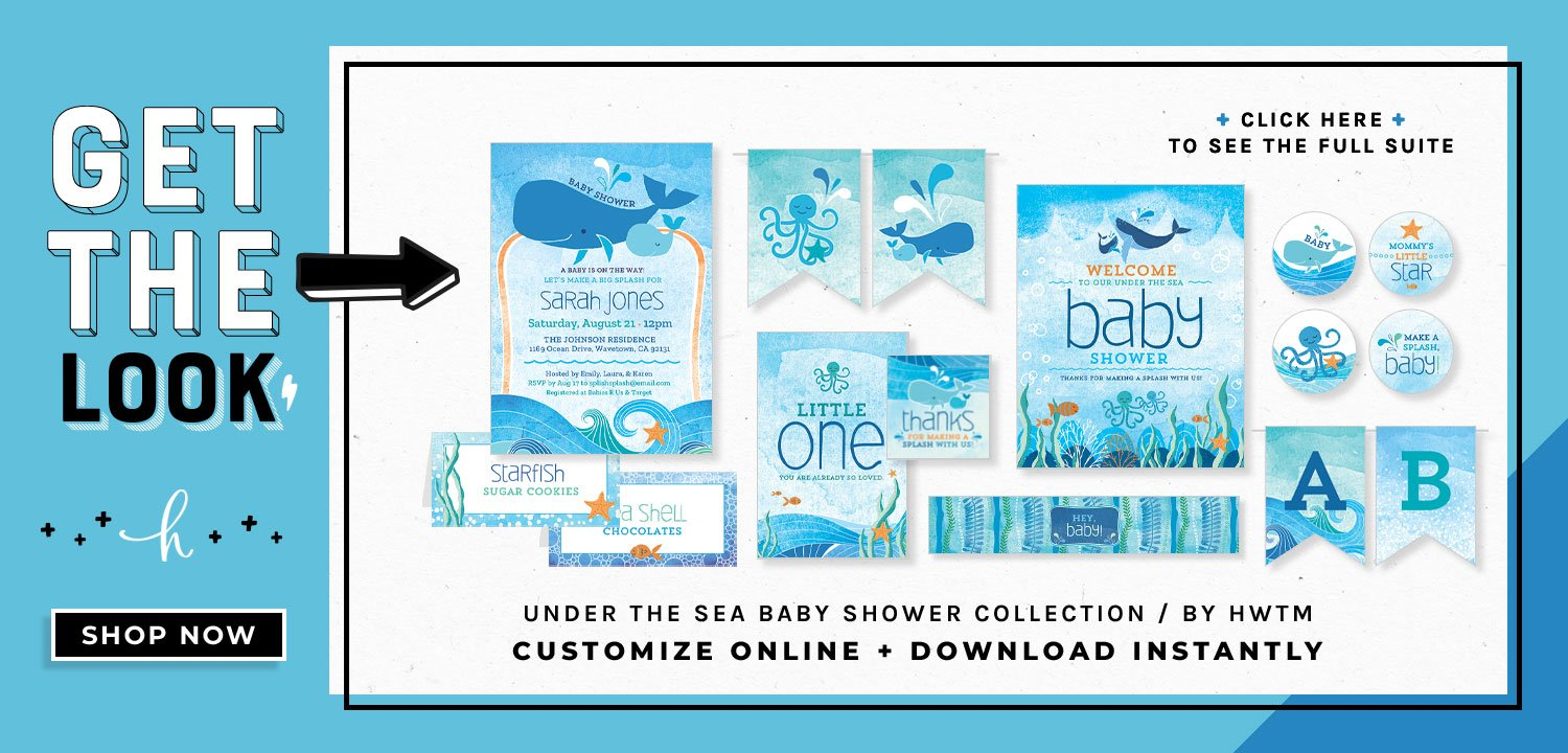 Under the Sea Baby Shower Printables