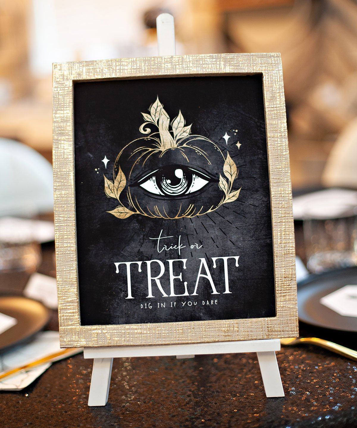 Glam Halloween Treat Sign