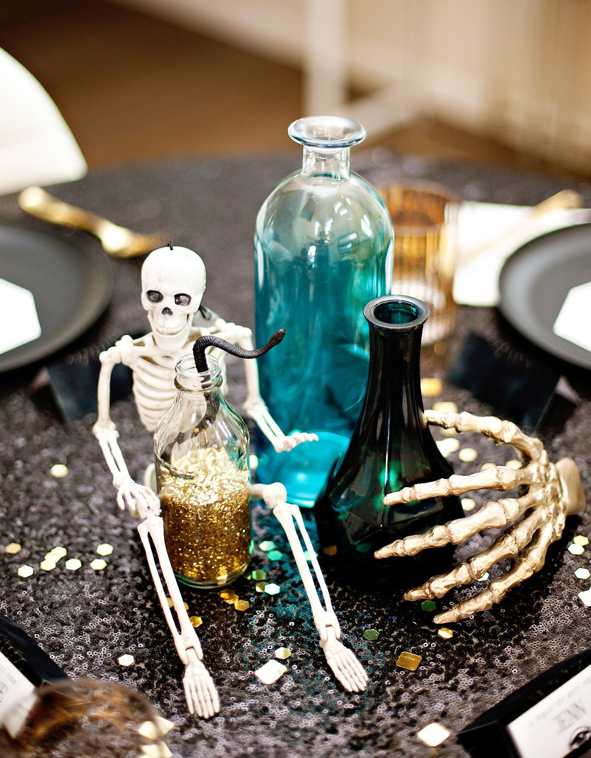 Glam Halloween Centerpiece Idea