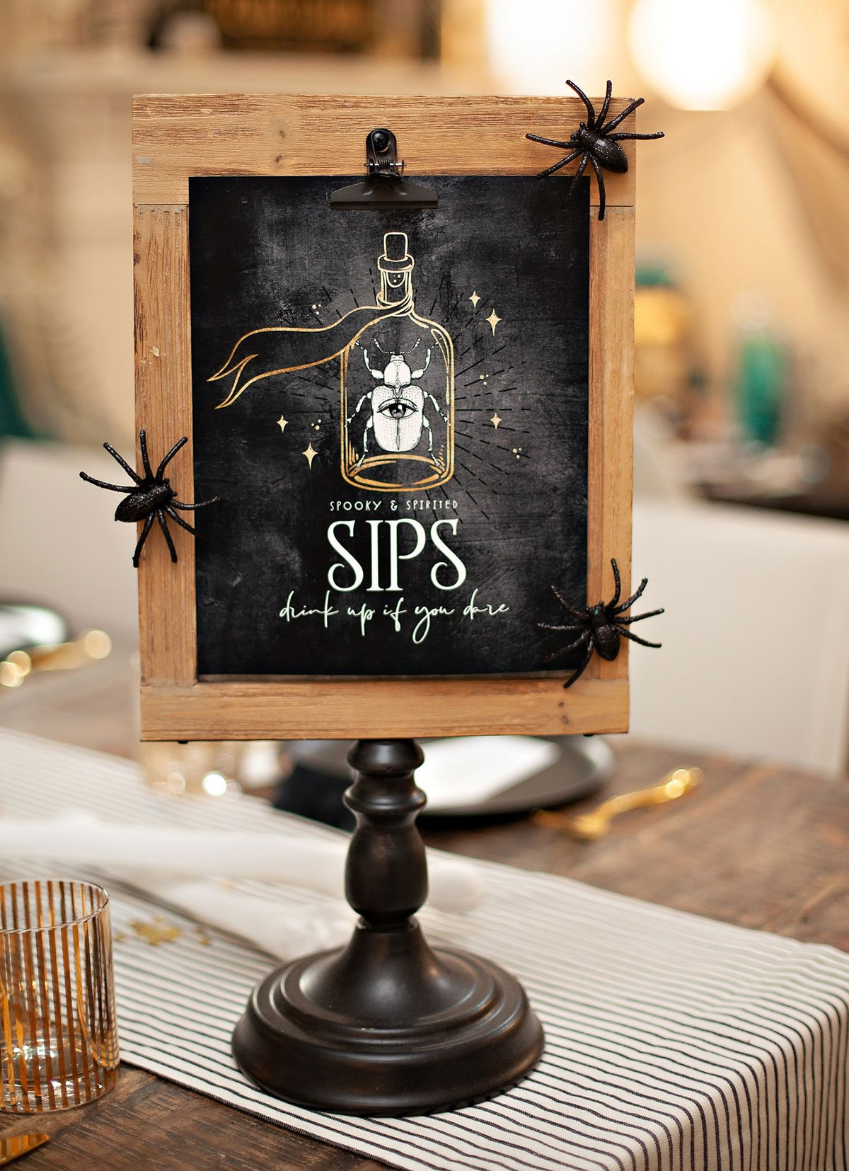 Glam Halloween Drink Sign