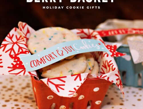 Holiday Cookie Gift: Snowy Berry Baskets
