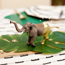 gold painted party elephant