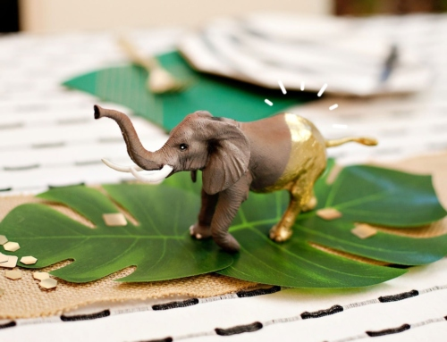 Gold-Dipped Safari Animals (Decor)