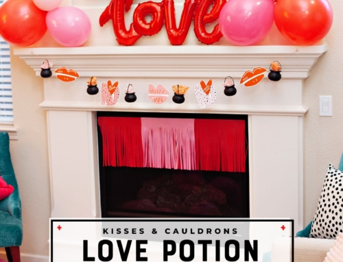 Love Potion Garland: Kisses & Cauldrons