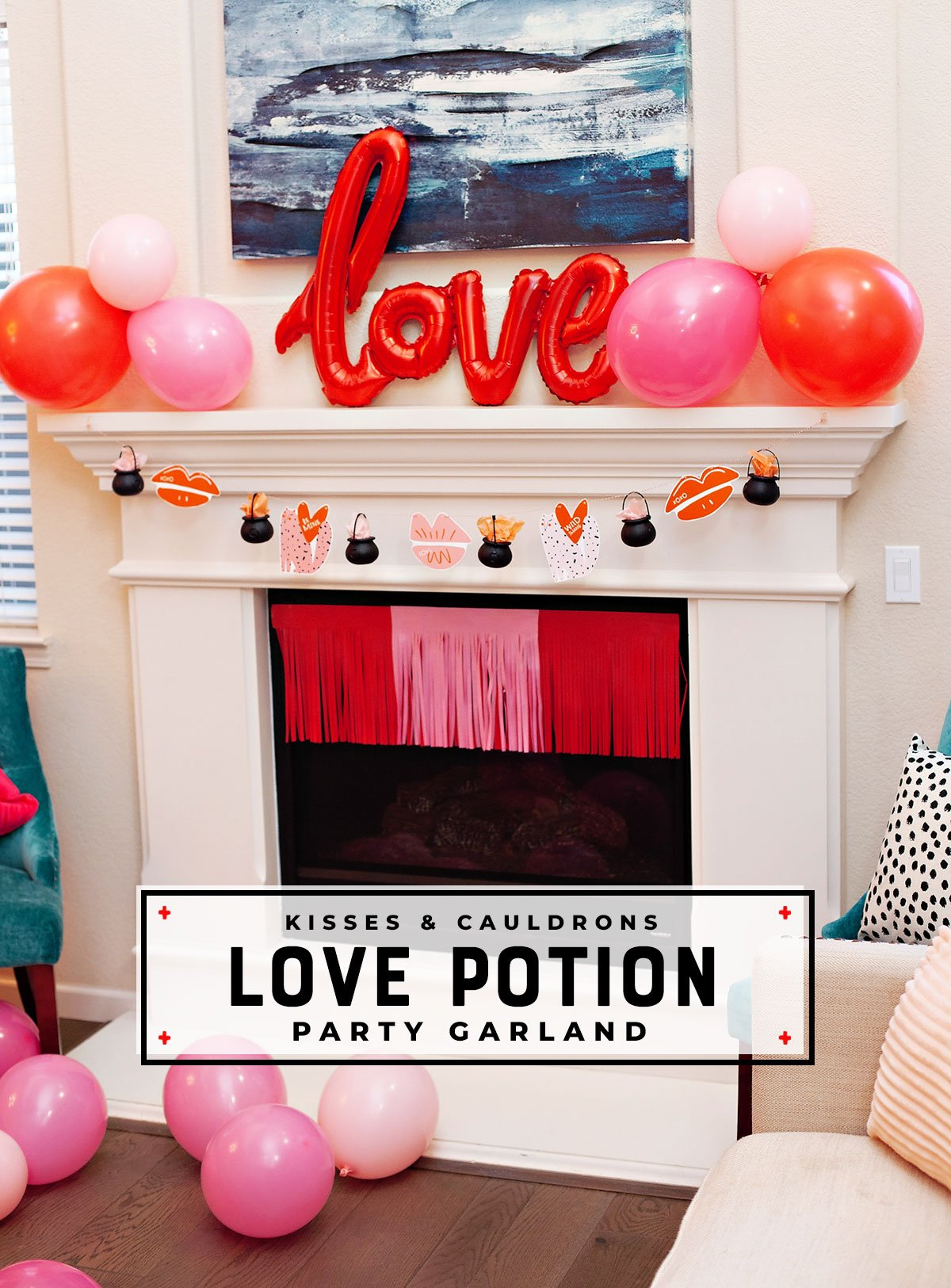 Valentine's Day party garland
