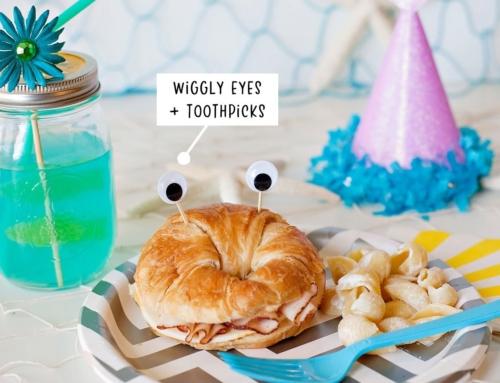 Cute & Easy Crab Shaped Sandwiches