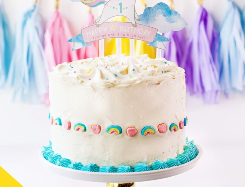 Easy Rainbow Unicorn Birthday Cake