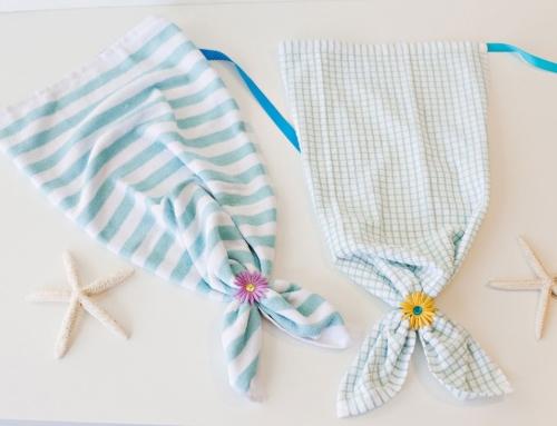 Kitchen Towel Mermaid Tails (No-Sew!)