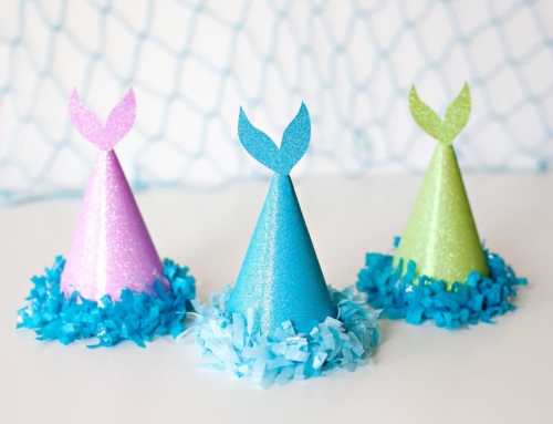 Sparkly Mermaid Tail Party Hats