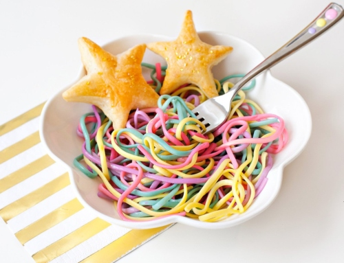 Rainbow Unicorn Pasta + Star Puffs