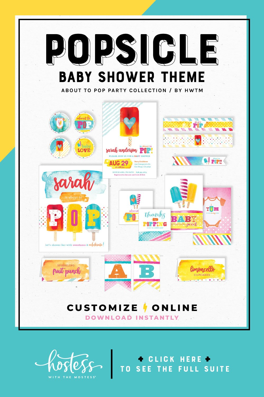 Popsicle Baby Shower Printables