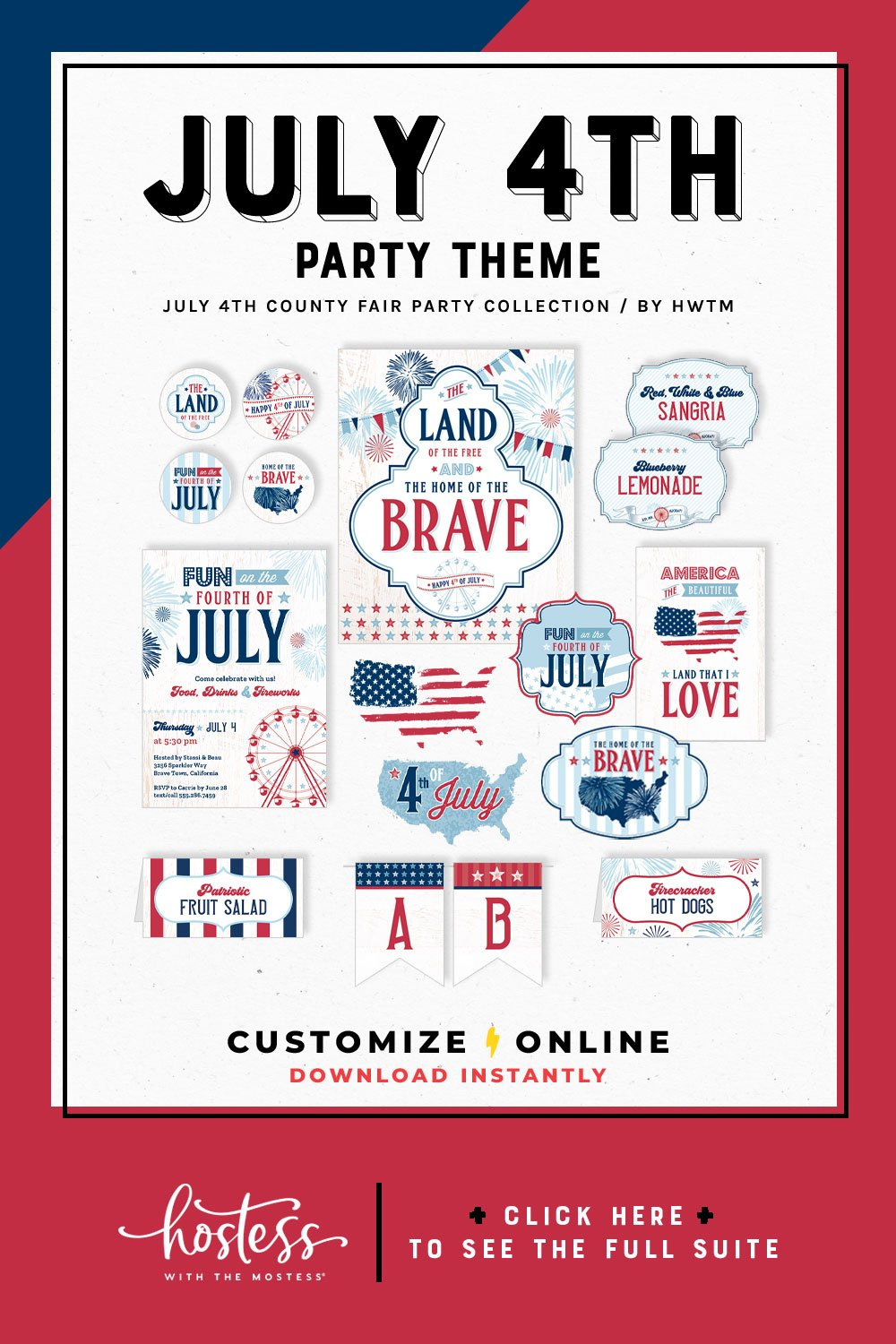 4th of July County Fair Printables