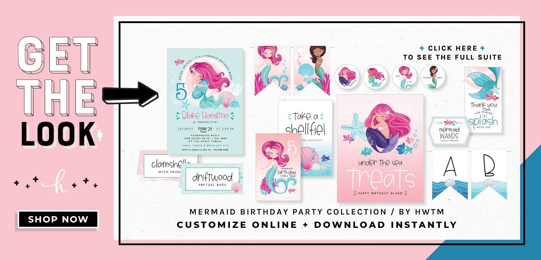 Mermaid Birthday Party Printables