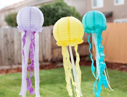 Pretty & Ruffled DIY Jellyfish Decorations