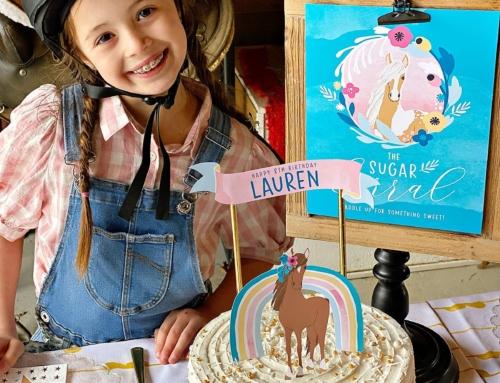 A Pretty & Modern Horse Birthday Party