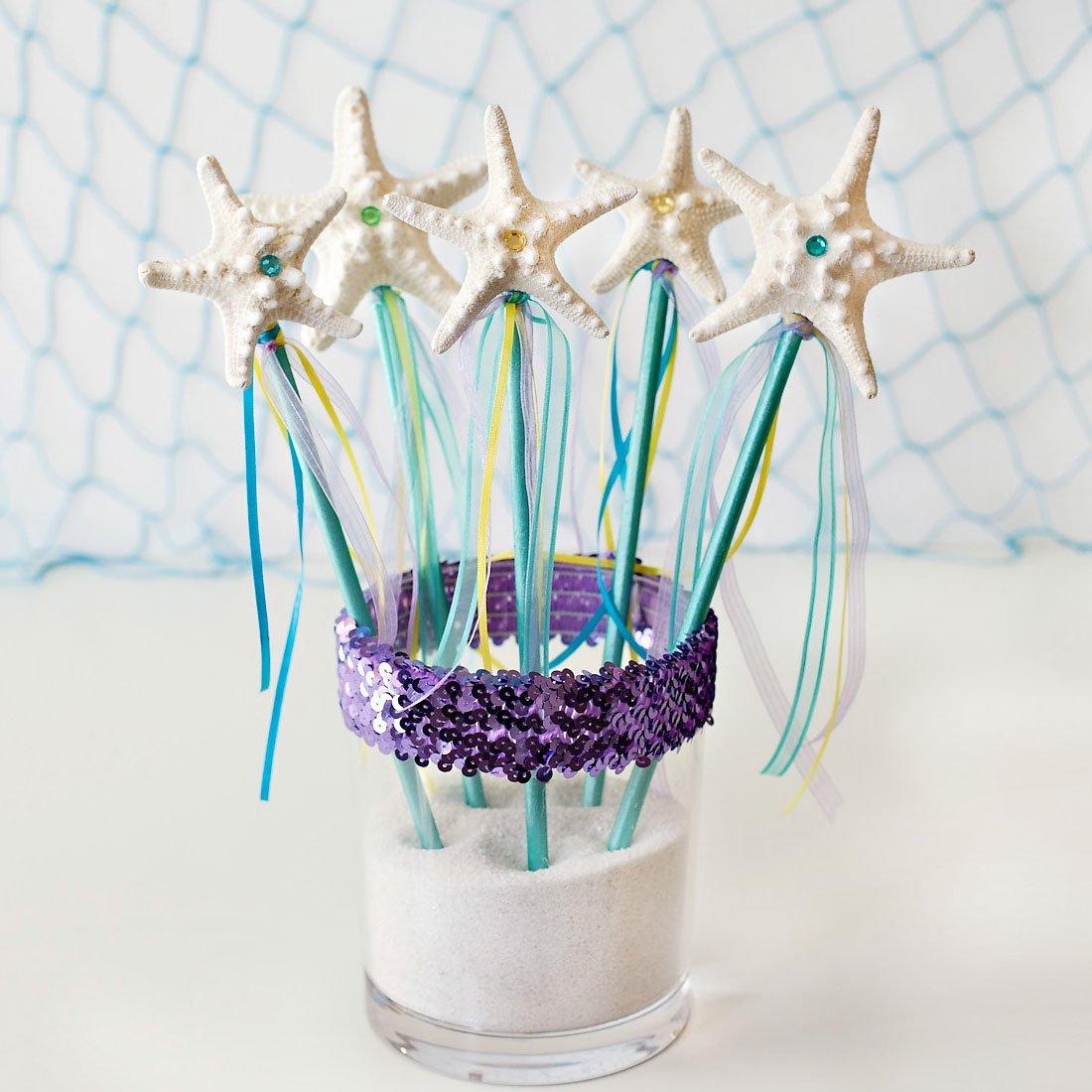 DIY Mermaid Princess Wands