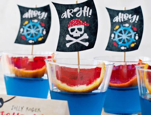 Colorful Pirate Party Jello Ships