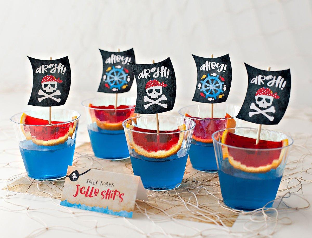 Pirate Party Jello Ships