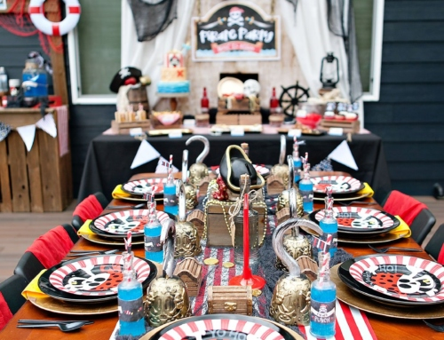 A Modern Pirate Party Kids Table