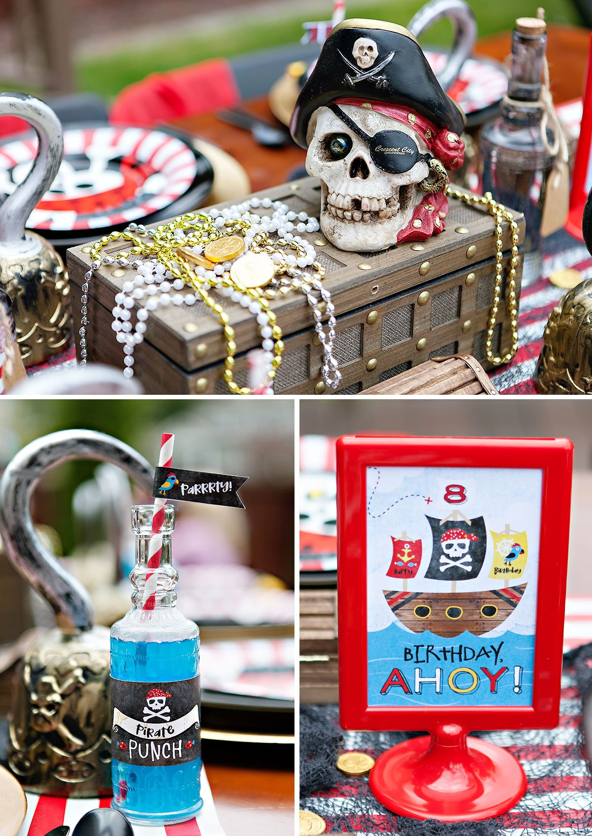Pirate Party Kids Table