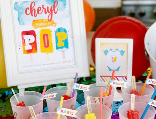 About to POP Baby Shower – Champagne & Popsicles!