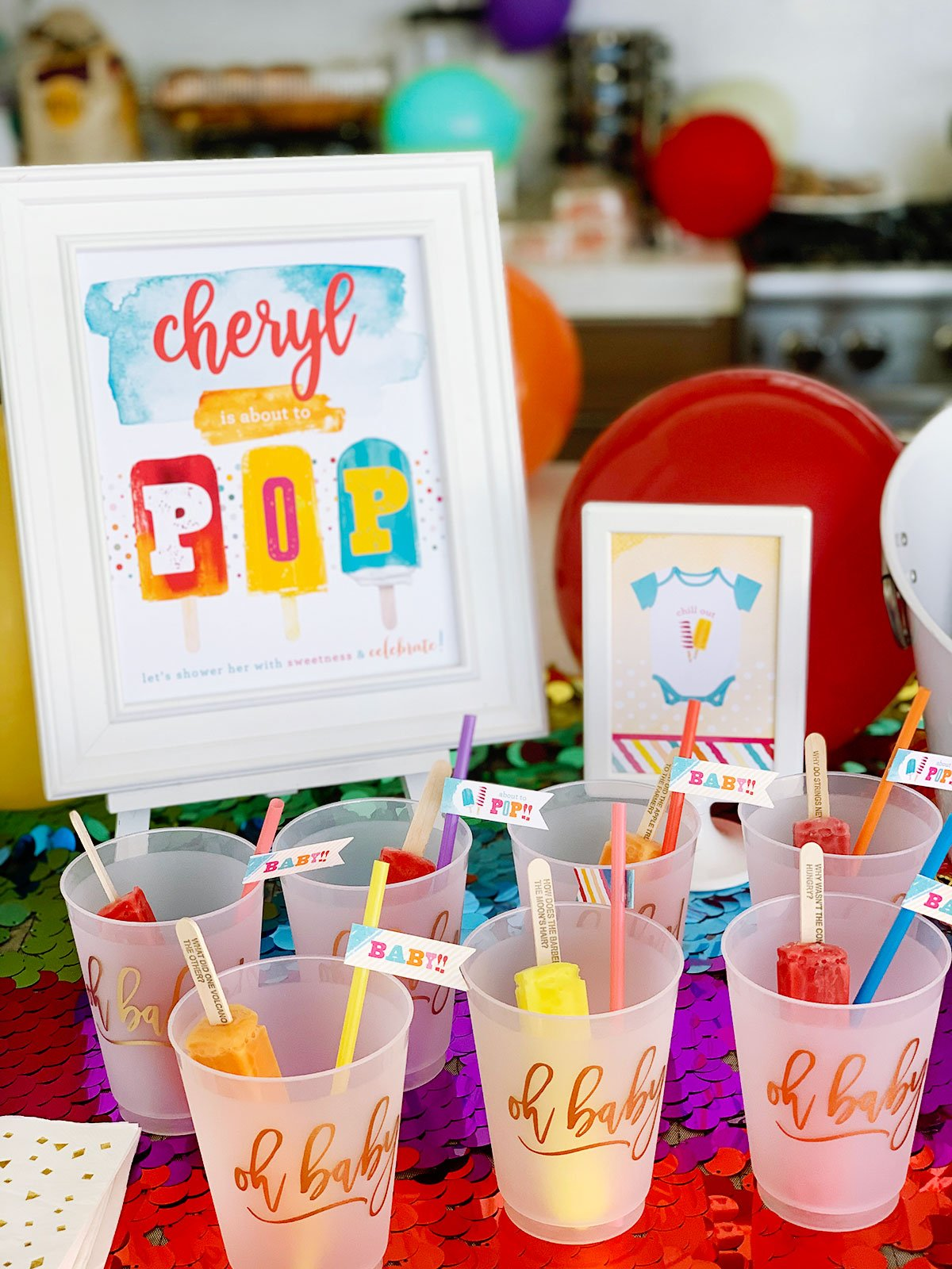 Popsicle Baby Shower