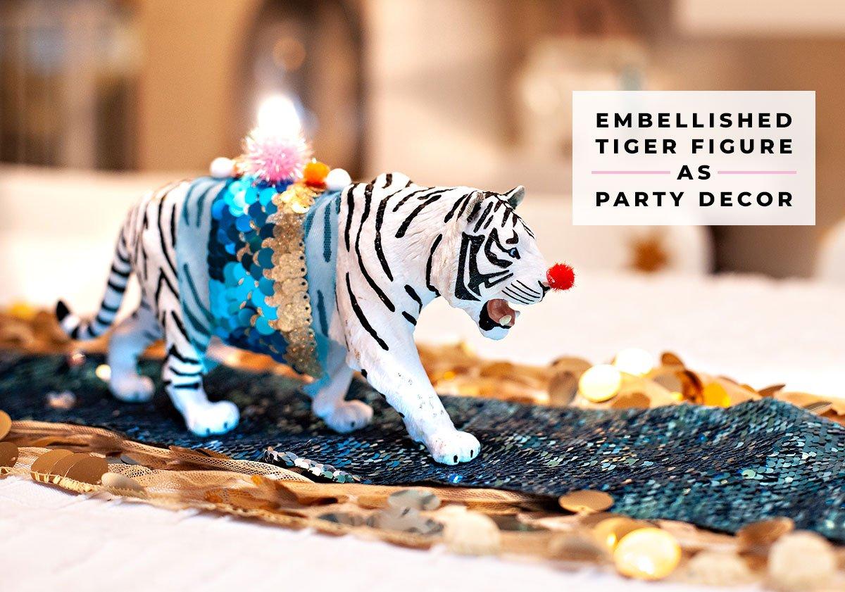 tiger circus party centerpiece