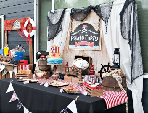 A Modern Pirate Party Dessert Table