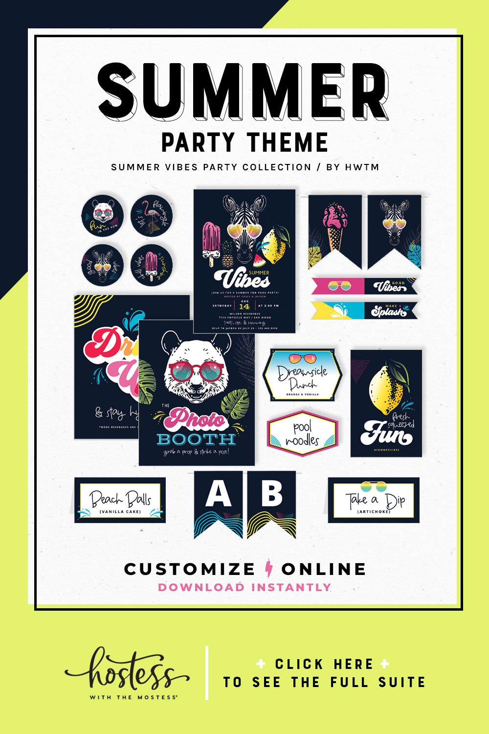Summer Vibes Party Printables