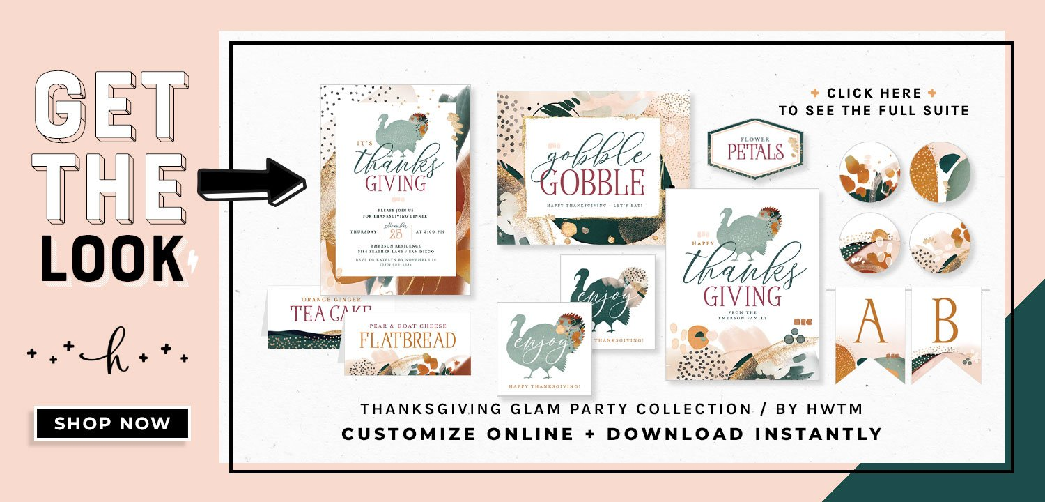 Thanksgiving Glam PartyPrintables