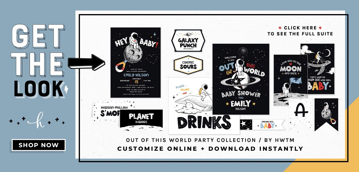 Out of this World Baby Shower Printables