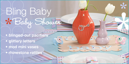 baby shower theme: bling baby