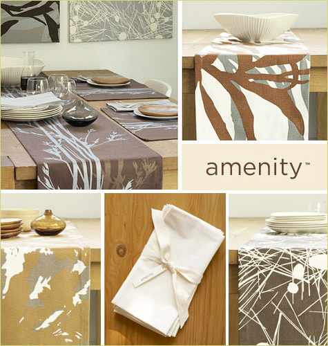 modern organic table textiles