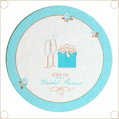 Snow & Graham Coaster Invitations