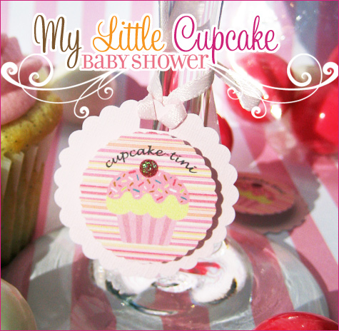 my little cupcake baby shower from the party box design   kid's birthday bridal showers baby showers  http://www.frostedevents.com