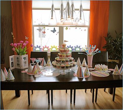 modern garden birthday party