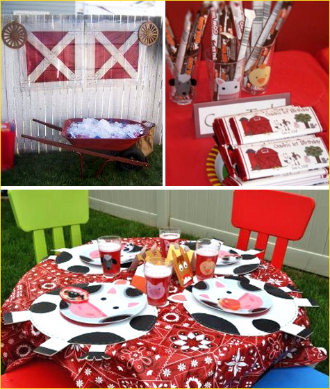 Parties and pretties custom inspiration board barnyard for Animal party decoration ideas