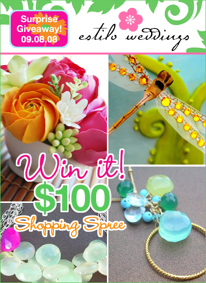 giveaway - estilo weddings $100 shopping spree