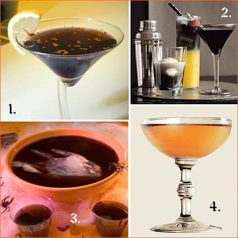 halloween cocktails: black and orange