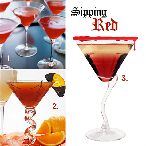 halloween cocktails: red