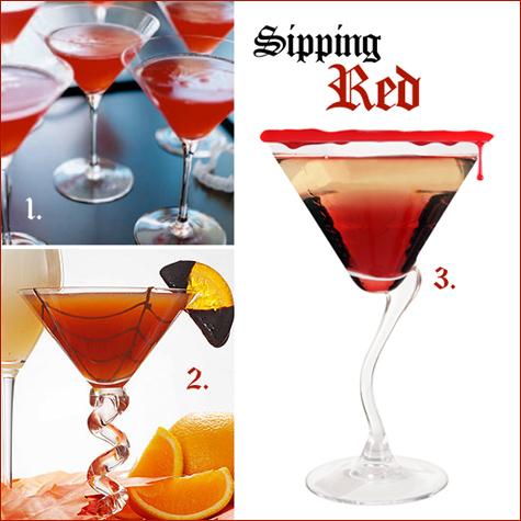 halloween cocktails: red
