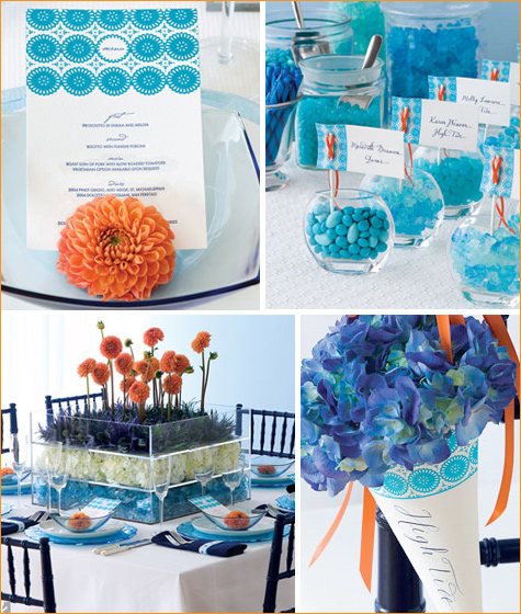 modern ocean themed wedding