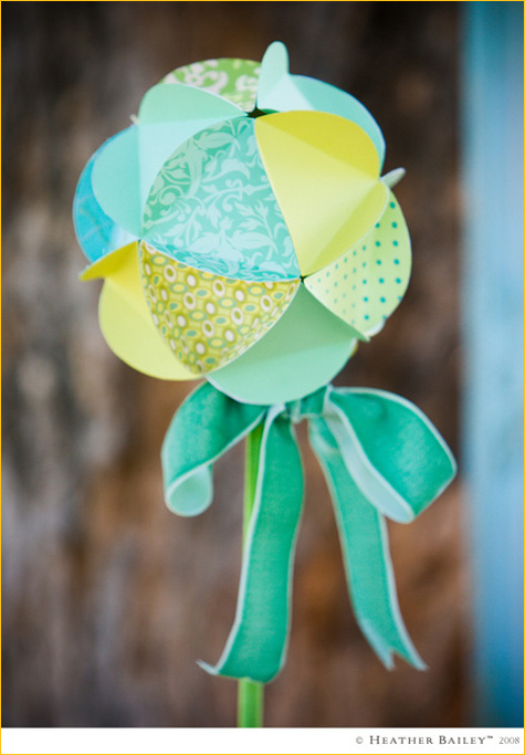 paper globes by heather bailey