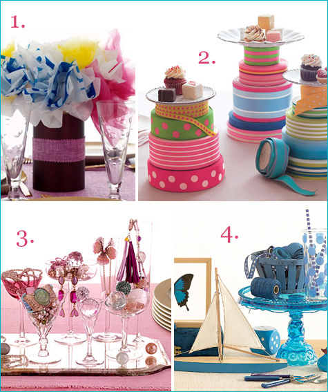 pretty party centerpieces