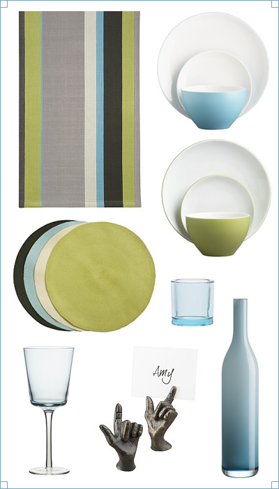 Breezy Cabana Stripe Tabletop