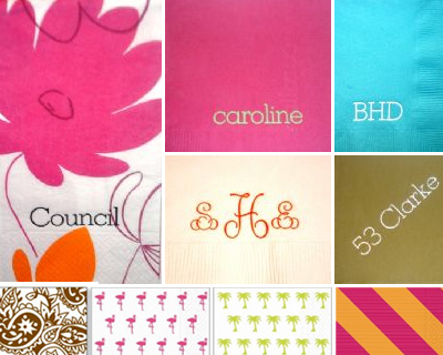 To Bee Named: Personalized Napkins