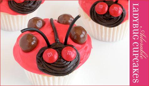 valentines day ladybug cupcakes