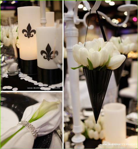 Table Decorations Black And White Theme Black And White Wedding Ideas